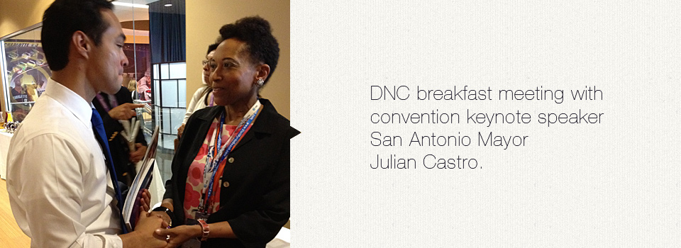 DNC breakfast meeting with San Antonio Mayor Julian Castro